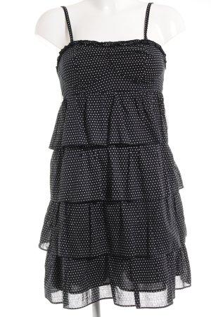 Vila Minikleid schwarz-weiß Punktemuster Casual-Look