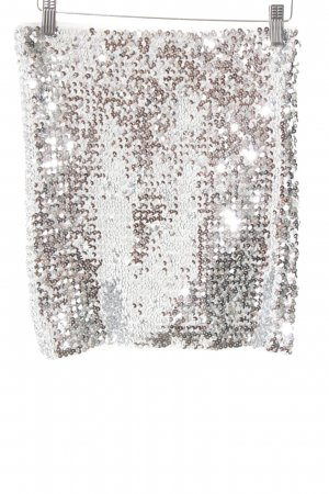 Vila Miniskirt silver-colored party style
