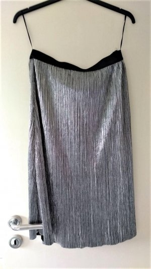 Vila Pleated Skirt silver-colored