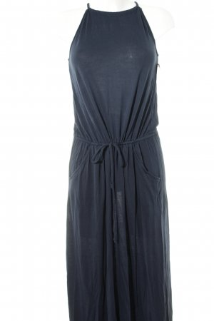 Vila Halter Dress dark blue beach look
