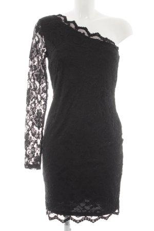 Vila One-Shoulder-Kleid schwarz Elegant