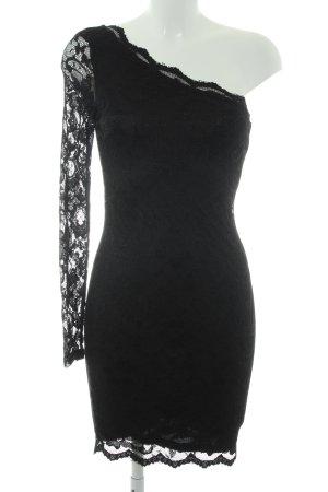 Vila One-Shoulder-Kleid schwarz Party-Look