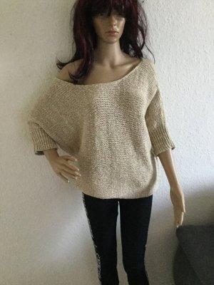 VILA oversize loose Fledermaus Pullover Sweatpulli Sweatshirt S M 34-35 grobe Strick