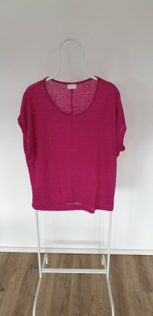Vila Oversized shirt framboosrood