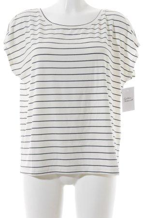 Vila Oversized Shirt weiß-dunkelblau Streifenmuster Marine-Look