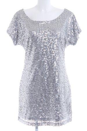 Vila Abito con paillettes grigio chiaro-argento stile festa