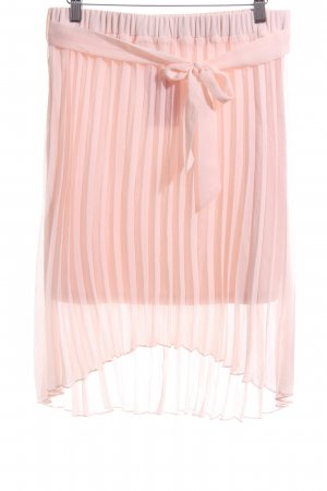 Vila Pleated Skirt pink casual look