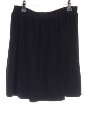 Vila Geplooide rok zwart zakelijke stijl