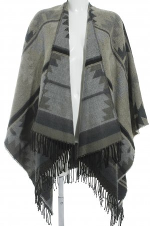 Vila Poncho abstraktes Muster Street-Fashion-Look
