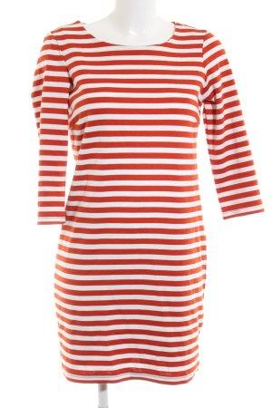 Vila Abito maglione rosso-bianco motivo a righe stile casual