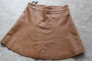 Vila Jupe en cuir synthétique marron clair polyester