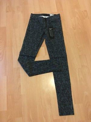 Vila Röhrenjeans Jeans Leo dunkelgrün grau schwarz XS 34 Neu Etikett Röhre