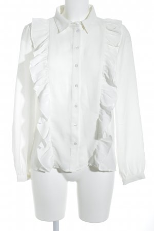 Vila Ruffled Blouse white business style