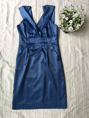 VILA Satin Kleid, Moonlight Blue (36)