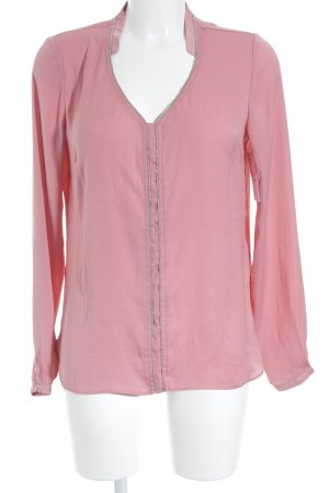 Vila Slip-over Blouse pink-silver-colored elegant