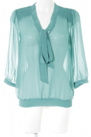 Vila Tie-neck Blouse cadet blue casual look