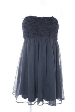 Vila Off-The-Shoulder Dress dark blue floral pattern elegant
