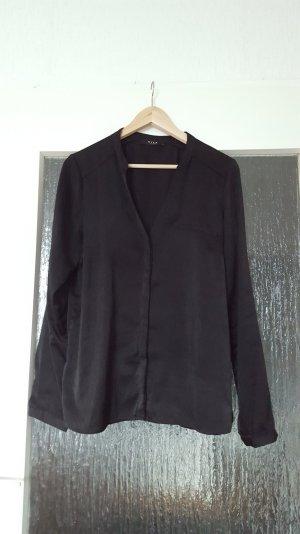 Vila - seidige schwarze Bluse