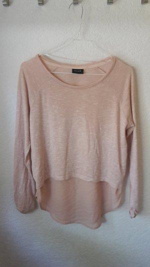 Vila Shirt Lagenlook rosé-creme Größe L