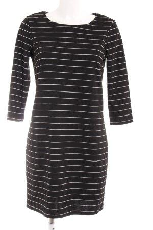 Vila Shirtkleid schwarz-weiß Streifenmuster Casual-Look