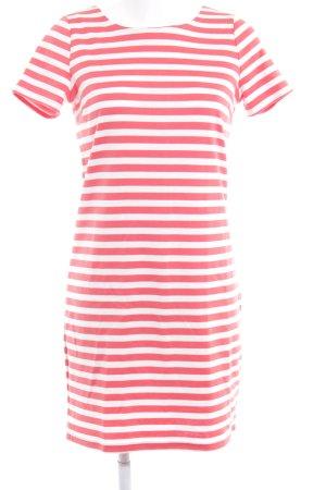 Vila Robe t-shirt blanc-rouge clair motif rayé style décontracté
