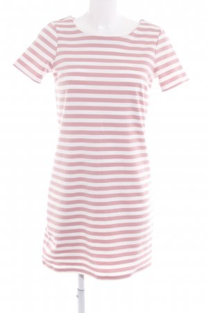 Vila Shirtkleid weiß-rosa Streifenmuster Casual-Look