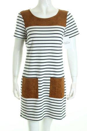 Vila Shirtkleid weiß-schwarz Streifenmuster Urban-Look