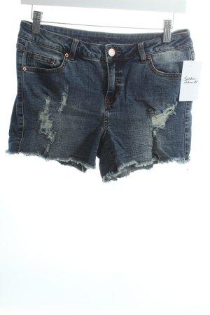 Vila Shorts dunkelblau-wollweiß Casual-Look