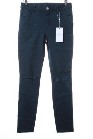 Vila Skinny Jeans dunkelblau Casual-Look