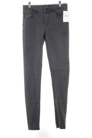 Vila Skinny Jeans dunkelgrau Casual-Look