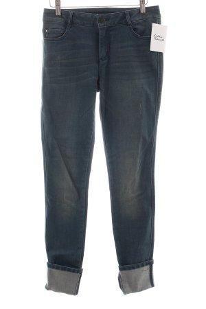 Vila Skinny Jeans graublau Casual-Look