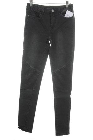 Vila Skinny Jeans schwarz Urban-Look