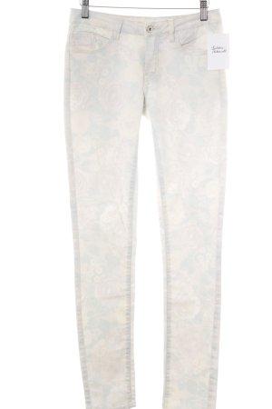 Vila Slim Jeans Blumenmuster Bleached-Optik