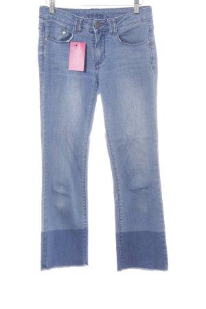 Vila Slim Jeans kornblumenblau Casual-Look