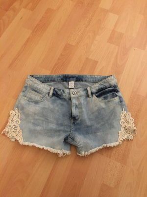 Vila Spitze Jeans Shorts Neu