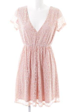 Vila Spitzenkleid pink grafisches Muster Elegant