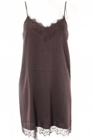 Vila Lace Dress dark brown party style