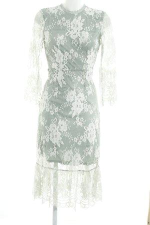 Vila Lace Dress mint-white floral pattern elegant