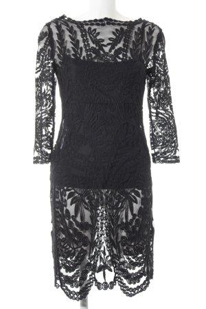 Vila Kanten jurk zwart elegant