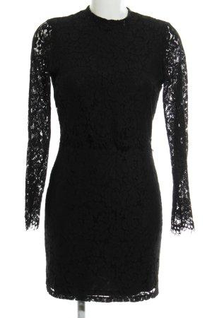 Vila Spitzenkleid schwarz florales Muster Elegant