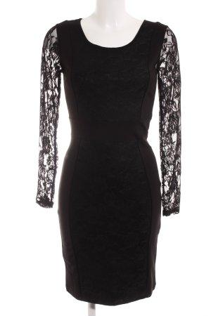 Vila Kanten jurk zwart Geweldige look