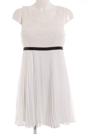 Vila Spitzenkleid weiß-schwarz Elegant