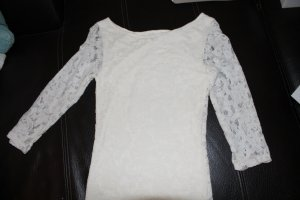 Vila Lace Top cream mixture fibre