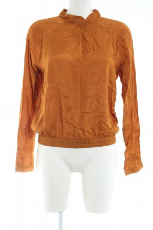 Vila Blouse à col montant orange clair style d'affaires