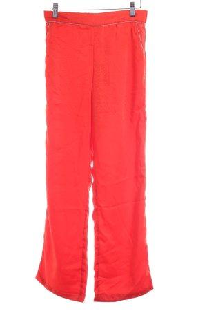 Vila Stoffhose rot Punktemuster Street-Fashion-Look