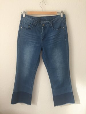 Vila Straight Cropped  Ankle Jeans Blau