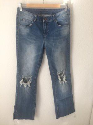 Vila Straight Jeans mit Rissen