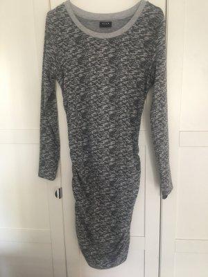 Vila Vestido de tela de sudadera gris claro-gris