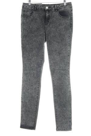 Vila Jeans stretch gris anthracite moucheté style décontracté