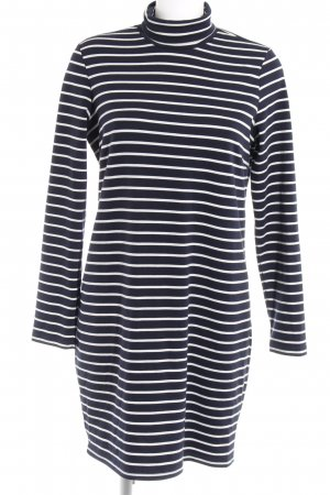 Vila Stretch Dress dark blue-white striped pattern casual look